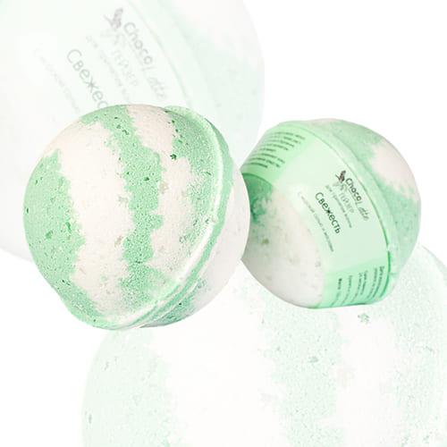 "Гейзер (бурлящий шарик) для ванн ""Свежесть"""